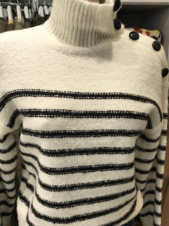 Pull Marinière col montant – MKT