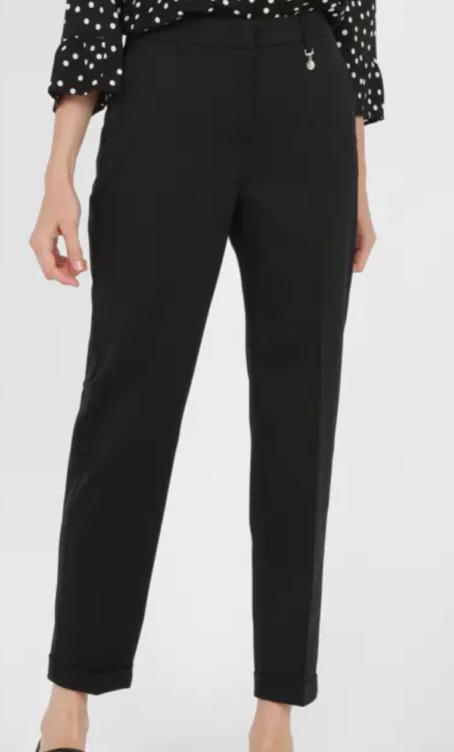 Pantalon droit Alleanza Penny Black noir