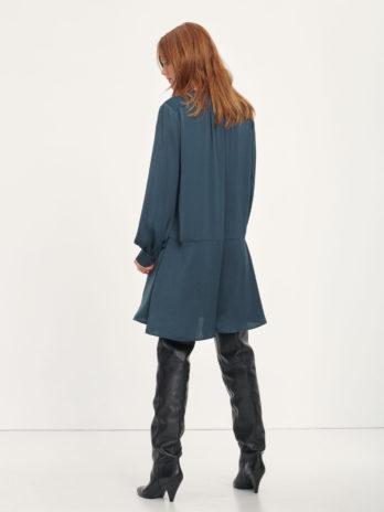 Robe col V boutonnée bleue navy Jetta – Samsoe
