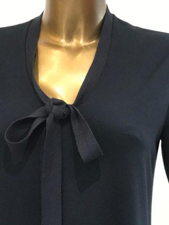 Robe bleue marine col v Julia – Penny Black