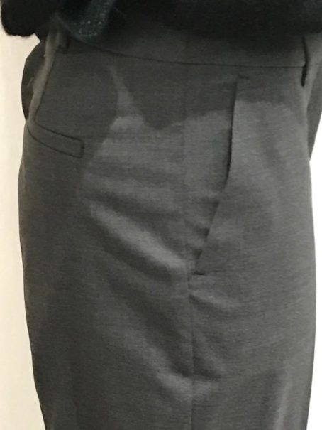 Pantalon droit Alleanza Penny Black Gris poches