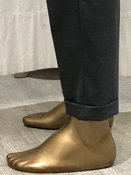 Pantalon droit Alleanza Penny Black Gris revers