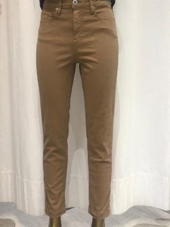 Pantalon droit coton camel Colette – Denim Studio