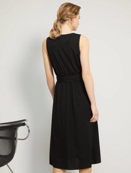 robe noire ammirato penny black back