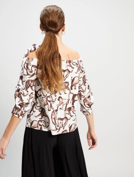 blouse insolito motif penny black back