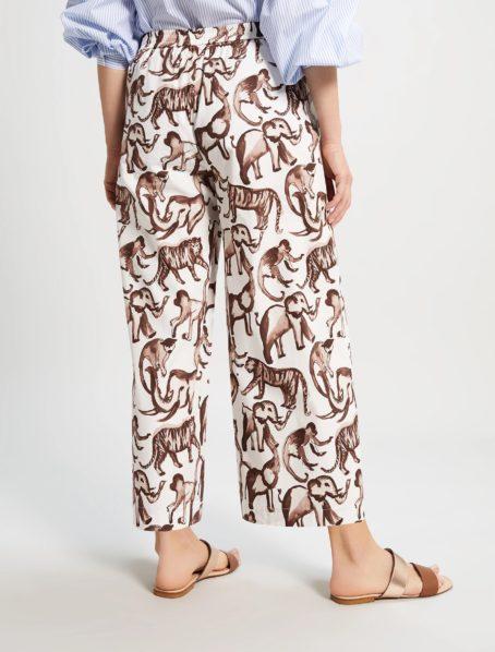 Pantalon Revival motif penny black back